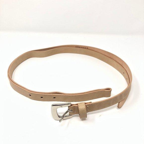 MAISON MARGIELA MM11 Tan Leather Buckle Size 75